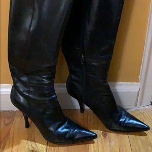 Nine West black high boots
